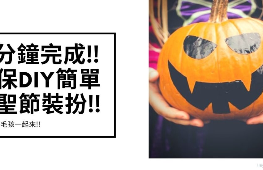 10分鐘環保DIY簡單萬聖節裝扮 10mins Halloween costume ideas