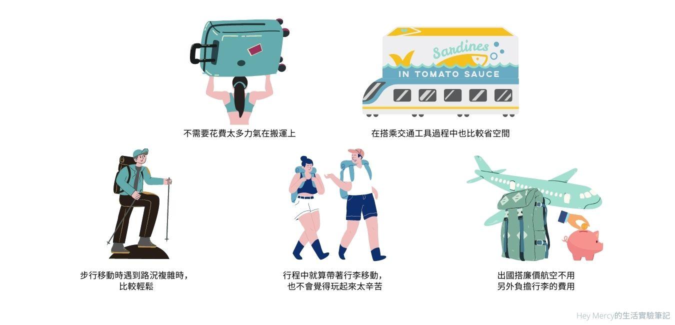 極簡行李打包術-行李輕便的好處