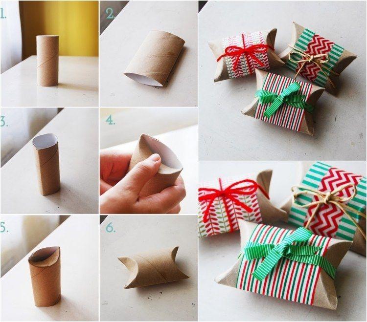 環保包裝- 衛生紙捲變小巧禮物盒